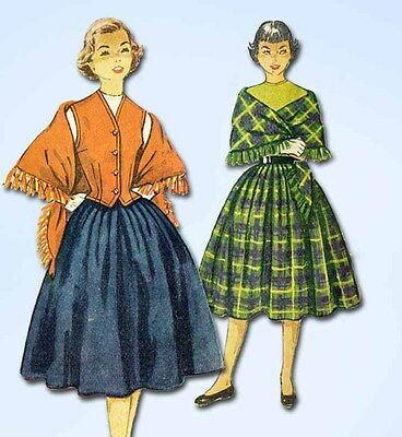1950s Vintage Simplicity Sewing Pattern 4392 Teen Misses Skirt & Weskit Size 14