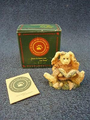 """Boyds Bearstone Daphne The Reader Hare 3.25""""  (a2054)"""