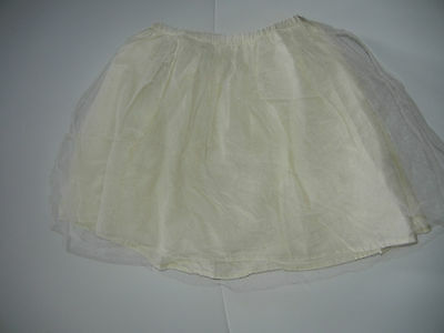 Mini Boden 9/10 Girls Ivory Cream Tulle Layered Skirt AE