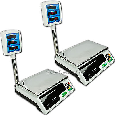 2pc Digital 60LB weight Produce Scale Food Meat deli Computing Retail Price lot