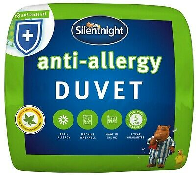 Silentnight Anti Allergy 10.5 Tog Duvet / Quilt - Single Double King or Super K
