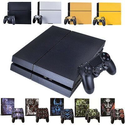 Skin Sticker For PS4 PlayStation 4 Console Cover 2 Decal Controller Protector UK