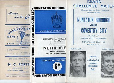 Nuneaton Borough HOME programmes 1950's 1960's 1970's
