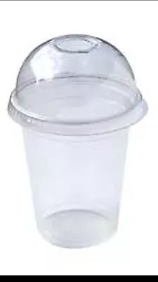 2000 PC Plastic cups Cold cups and dome lids 22 OZ (1000cups+1000lids)