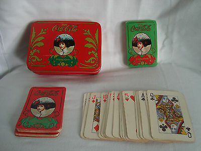 Score Tablet /& Pencil Coca-Cola Card Set Tin 2 Packs of Playing Cards
