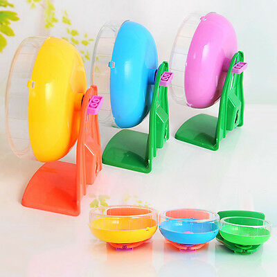 Plastic Toys Stable Wheel Colorful Mute Pet Rat  Hamster Mouse Exercise Running