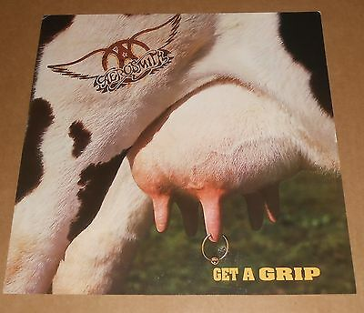 Aerosmith Get a Grip 1993 Promo Double Sided Flat Square Poster 12 x 12