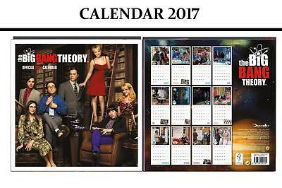 Big Bang Theory Official 2017 Calendar + Big Bang Theory Fridge Magnet