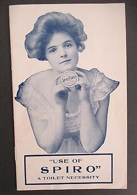 Vintage SPIRO POWDER Advertising Booklet circa 1909