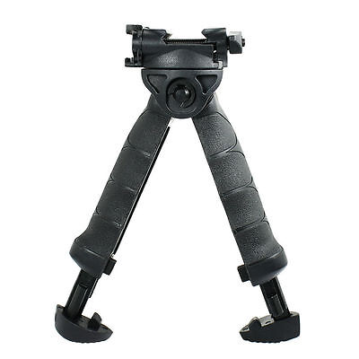 Rotating Fore Grip Bipod Stand Vertical Tactical Foregrip Black for Hunting