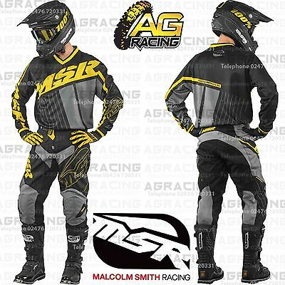 MSR 2017 Axxis Black Yellow Grey Jersey & Pants Combo Kit Motocross Enduro Quad