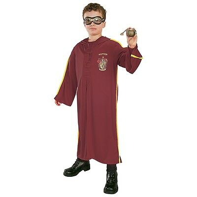 Quidditch Costume Kit Harry Potter Kids Robe + Goggles + Golden Snitch Halloween