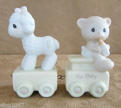 Precious Moments For Baby age 1 sheep set of 2 figurines circus birthday train
