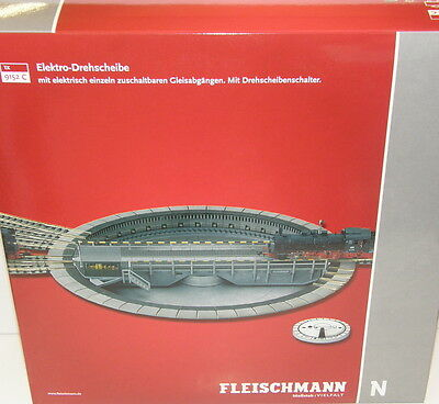 Fleischmann N 9152 C Turntable Electric for professional-track NEW+Box