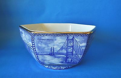Wade For Ringtons Hexagonal Bowl - Gilted & Boxed 7 Ins Across