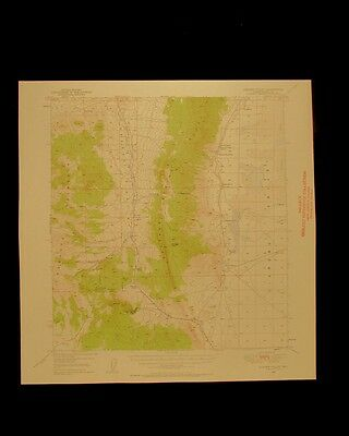 Garden Valley Nevada vintage 1958 original USGS Topographical chart