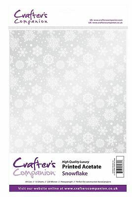 Crafter's Companion Scrapbooking Craft Printed Acetate - Snowflake (220 microns)