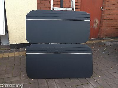 Mgb roadster black with white  piping door cards 62 - 67