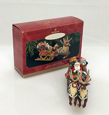 Hallmark Repaint Ornament 1997 Santa's Magical Sleigh - Signed By Artist QX6672C