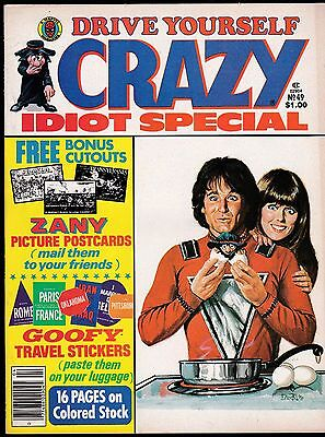 Crazy # 49 Marvel Comics Giant Magazine Mork And Mindy Jaws Travel Stickers