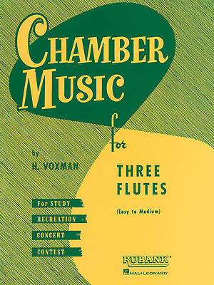 Chamber Music Three Flutes Easy Intermediate Contest Sheet Music Rubank Book NEW