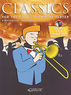 Classics for the Young Player Trombone Solo Sheet Music Play-Along Book CD NEW