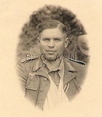 WWII German Army RP- Portrait- Wounded Soldier- WIA Survives Combat- Ribbon