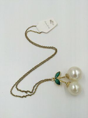Necklace Double Crystal Vintage Elegant (Eazy for matching with your clothes)