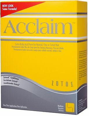 Zotos ACCLAIM Perm Extra Body Perm Lotion NORMAL FINE or TINTED HAIR - YELLOW