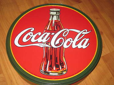 Coca Cola Coke Bottle Round Advertising Vintage Retro Style Metal Tin Sign New