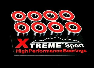 16 Pack 627 RS 7mm XTREME ABEC 11 REDS HIGH PERFORMANCE BEARINGS QUAD INLINE