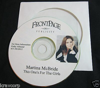 Martina Mcbride 'This One'S For The Girls' 2003 Promo Cd Single