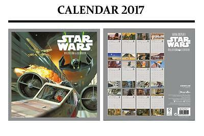 Star Wars Classic Official 2017 Calendar + Star Wars Fridge Magnet