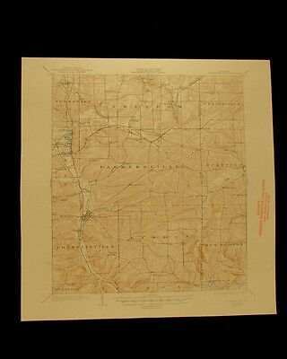 Franklinville New York vintage 1947 original USGS Topographical chart