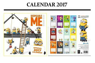 Despicable Me Minions Official 2017 Calendar + Minions Fridge Magnet