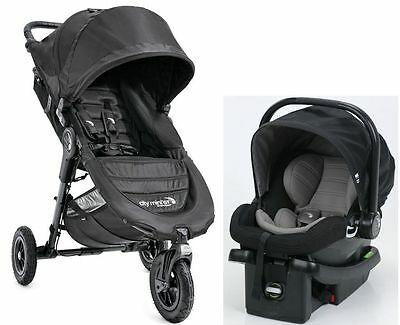 Baby Jogger City Mini GT Travel System Stroller w City Go Infant Car Seat Black