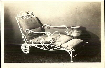 Furniture Adjustable Chaise Chair - Pompeian Studios NY Real Photo Postcard