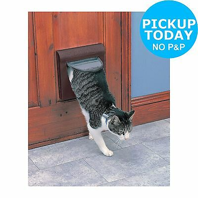 Staywell Medium 4-Way Locking Pet Door with Tunnel - Brown -From Argos on ebay