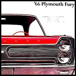 1966 Plymouth Fury Deluxe Color Brochure Original 66