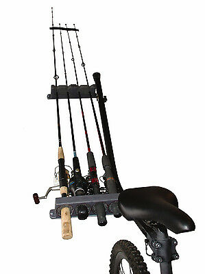 NEW Bicycle ROD HOLDER Fishing Pole CARRIER LOCKER Bike ATV UTV Pacific Outdoors