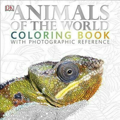 Animals of the World Coloring Book by DK Paperback Book (English)