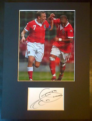 Robert Earnshaw Authentic Hand Signed Wales Display AFTAL COA Football