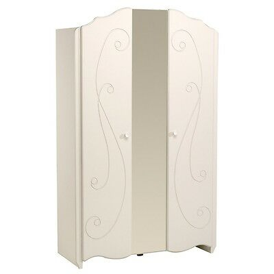 "Paris Prix - Armoire 2 Portes ""Betty"" Blanc"