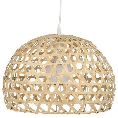 Paris Prix - Lampe Suspension Bambou 30cm Naturel