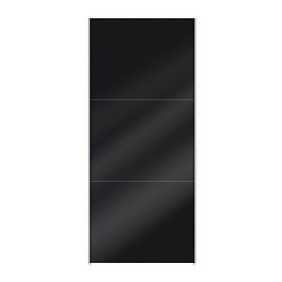 "Paris Prix - Porte Coulissante Dressing 100cm ""Facility"" Noir Brillant"