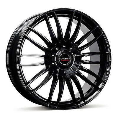 Borbet CW3 Alloy Wheel Rims R18 1 Piece Gloss Black Finish 7.5x18 ET50 5x160