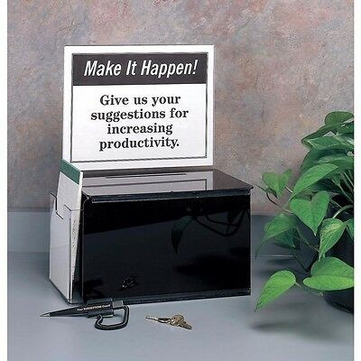 9AGM5 Suggestion Box, Acrylic, Black (6A2-012/WH08)