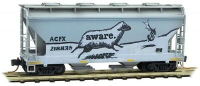 Micro-Trains MTL N-Scale 2-Bay Covered Hopper ACFX/Aware Graffiti #218835