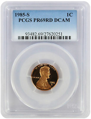 1985-S Lincoln Cent PR69RD DCAM PCGS Proof 69 Red Deep Cameo