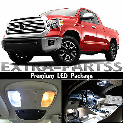 19x White Interior LED Lights Package Dome Map Kit For 2007-2015 Toyota Tundra